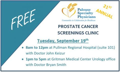 Palouse Urology Hosts 21st Annual Prostate Cancer Screening Clinic